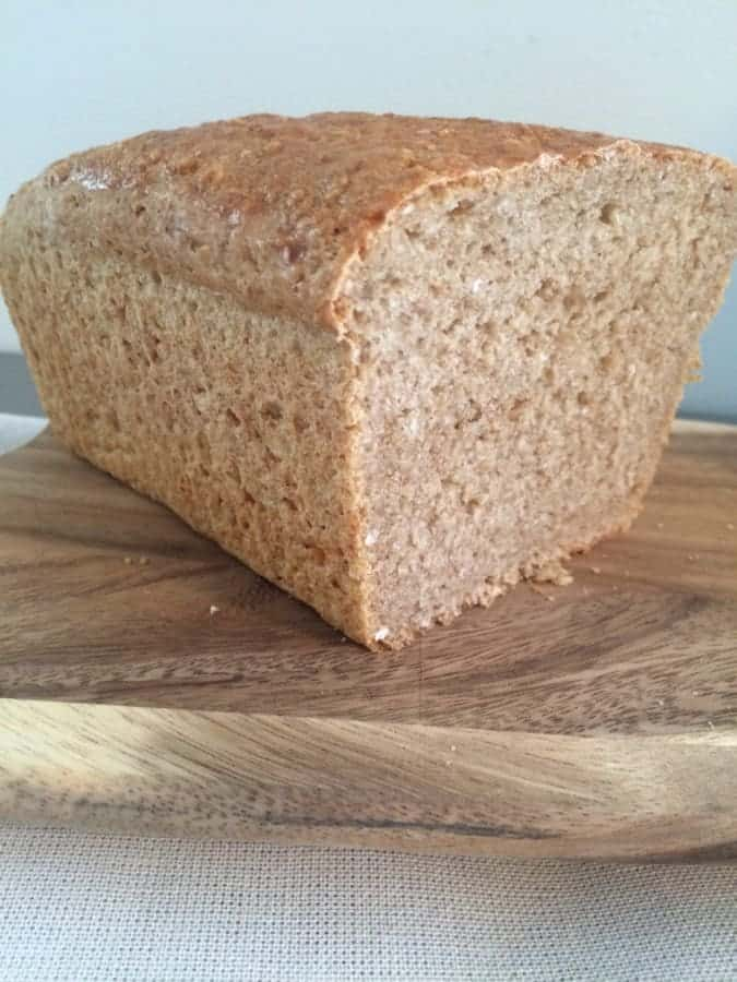 Homemade Irish Oatmeal Bread made with brown sugar, steel cut oatmeal, and whole wheat flour.  This bread is delicious with Irish butter and raw honey!