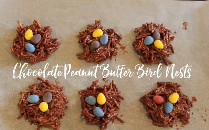 chocolate peanut butter bird nests