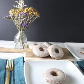 These Brown Butter Banana Doughnuts are so good filled with nutty brown butter, bananas, warm spices, and a sweet glaze!