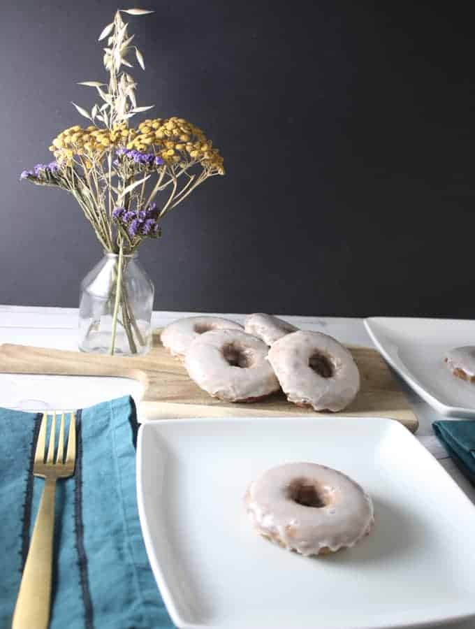 Have some overripe bananas? Make these Brown Butter Banana Doughnuts prepared wth nutty brown butter, bananas, warm spices, and topped with a sweet glaze!