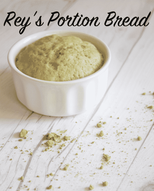 Rey's Portion Bread a delicate, moist cake light in flavor with green tea and only takes a few minutes to prepare and watch it rise before you