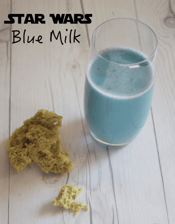 Butterfly pea flowers, vanilla, sugar, and your choice of milk are used in created Star Wars Blue Milk