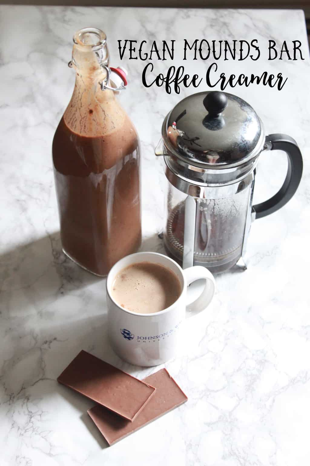 vegan mounds bar coffee creamer