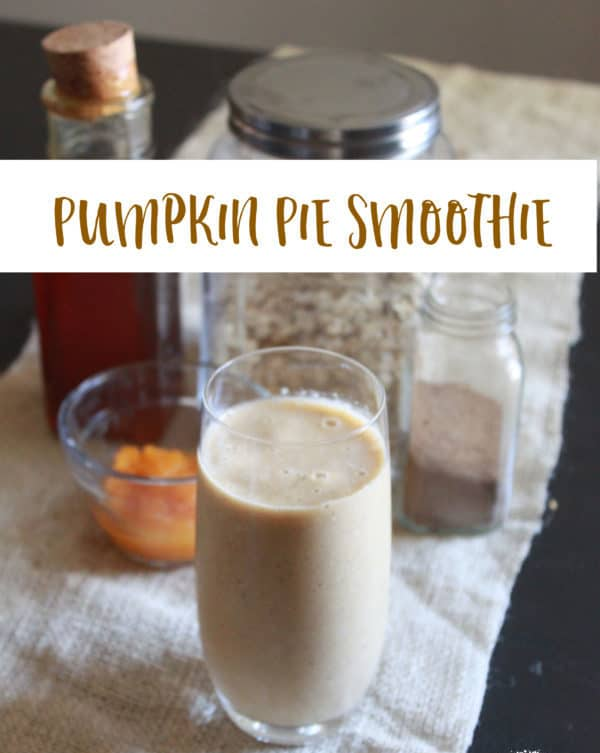 Dairy-free Pumpkin Pie Smoothie Recipe. Enjoy the flavors of fall, while still keeping cool. Almond milk, pumpkin puree, toasted pumpkin pie spice.