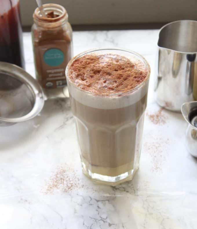 latte with condensed milk