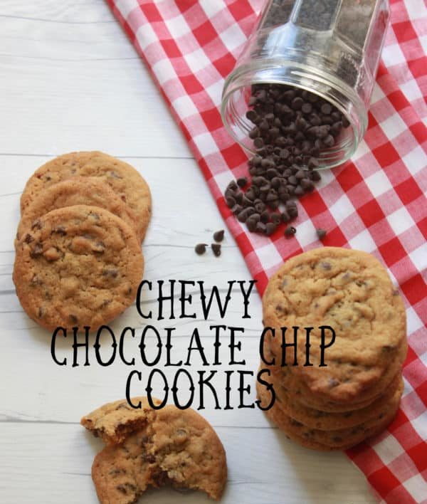 The Best Chewy Chocolate Chip Cookies made with bread flour, molasses, a balance of brown and granulated sugars and mini chocolate chips.