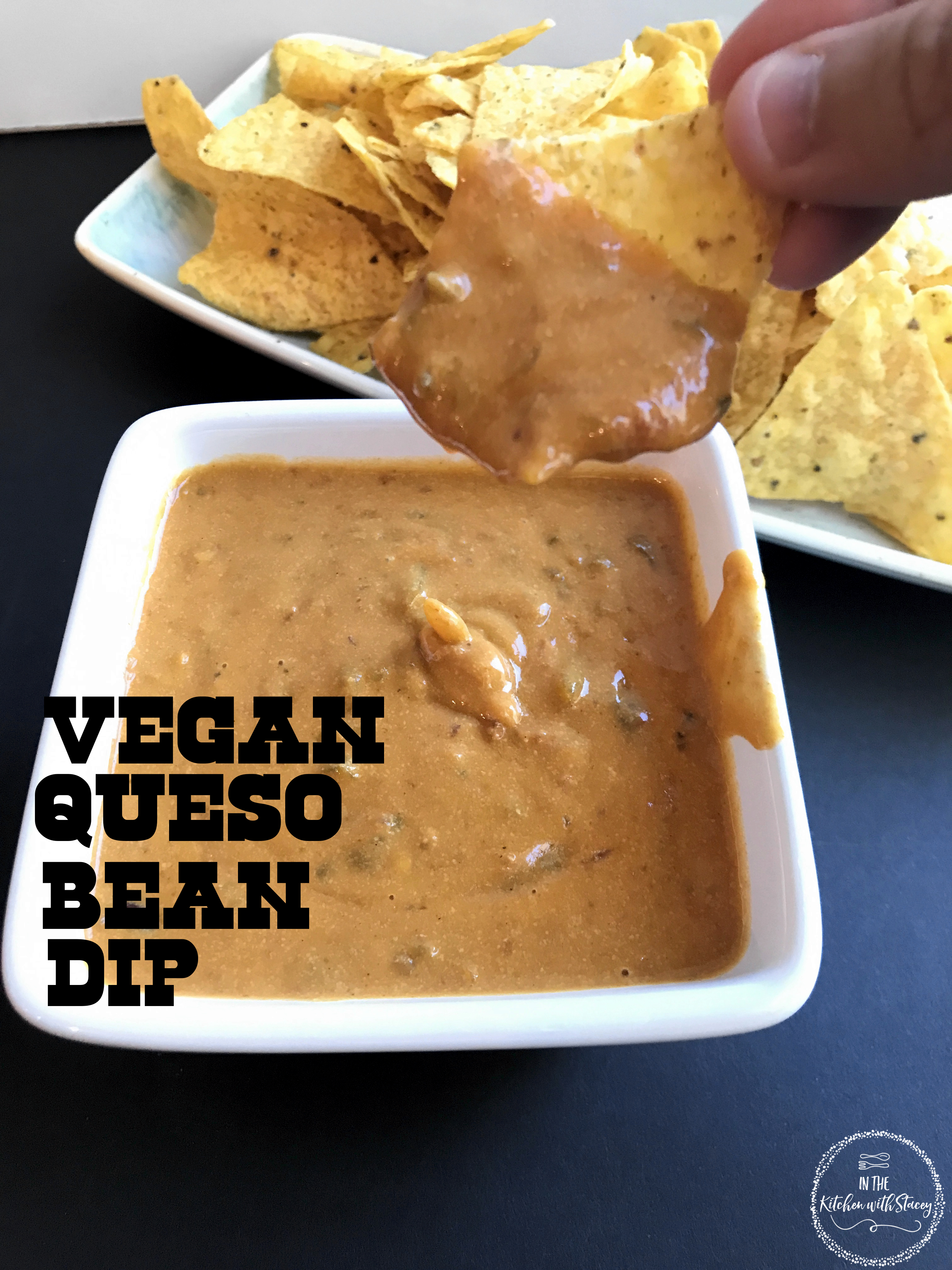 vegan queso bean dip
