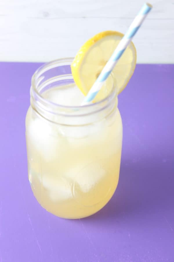 This Coconut Water Lemonade is so easy to make, with freshly squeezed lemon juice, honey, and coconut water served over ice