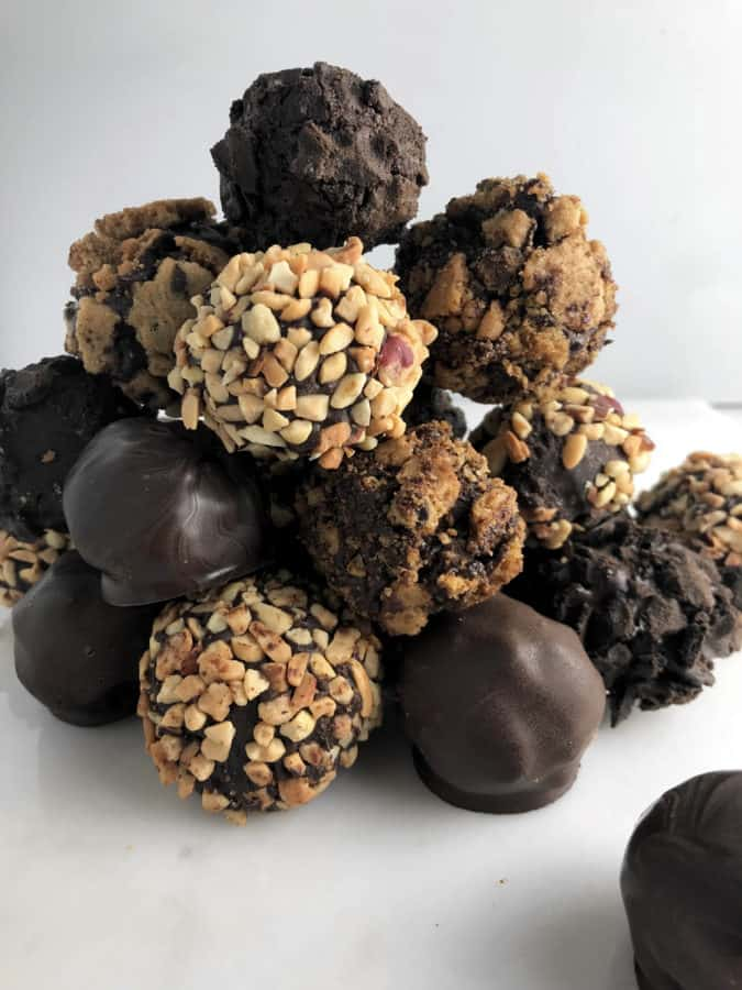Simple ingredients and time are needed to make these chocolate truffles.