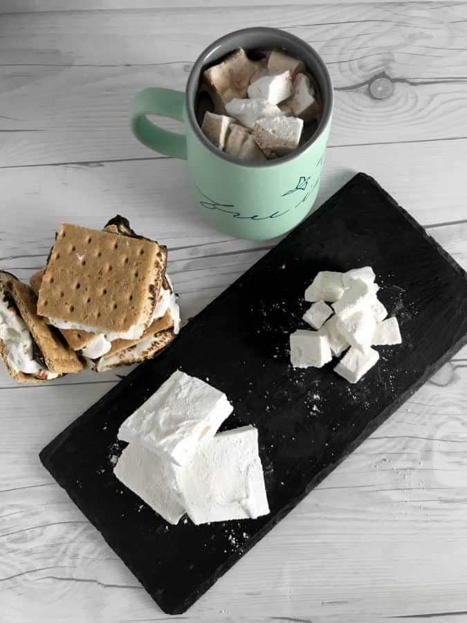 Melt in your mouth Homemade Vanilla Bean Marshmallows that are so easy that you will never go back to store bought that have blue dye.