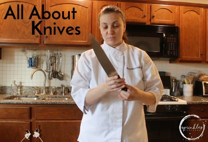 Knives are some of my favorite things to buy! After my first job at the smoothie place, when I was 14, I was hired as an apprentice at 15
