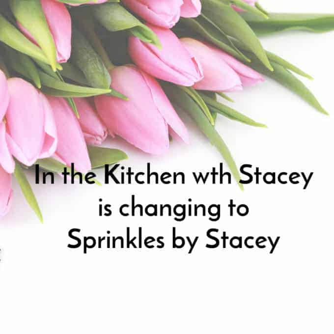 I can't thank you enough for all the love and support for In the Kitchen with Stacey!  After almost three years of blogging, I have decided to re-brand