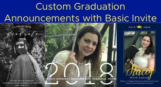 Custom Graduation Announcements with Basic Invite