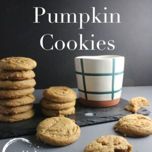 Brown Butter Pumpkin Cookies made with real brown butter and just in time for fall and pumpkin spice season!