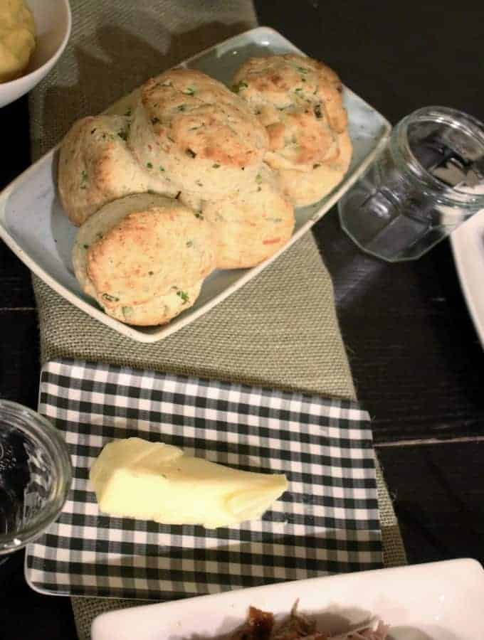 These Asiago, Black Pepper, & Scallion biscuits are full of creamy, sweet, and earthy flavor perfect for your next dinner, gathering, or anytime!