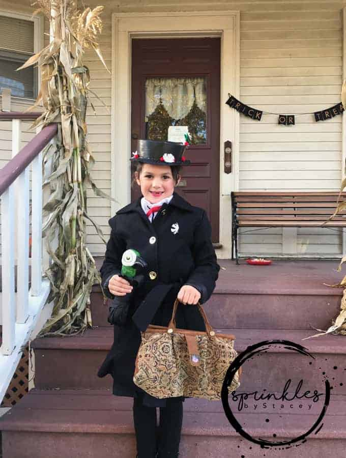 This DIY Mary Poppins Costume is so easy to put together with a few items of clothing and handmade things you can look just like Mary Poppins, Practically Perfect in Every Way!
